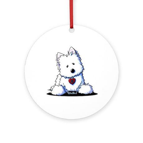 Westie Doorway To My Heart Ornament (Round)