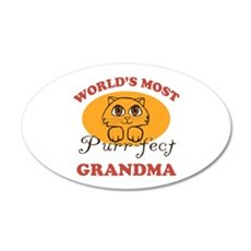 One Purrfect Grandma 20x12 Oval Wall Decal