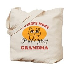 One Purrfect Grandma Tote Bag