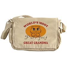 One Purrfect Great Grandma Messenger Bag