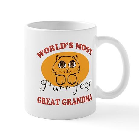 One Purrfect Great Grandma Mug