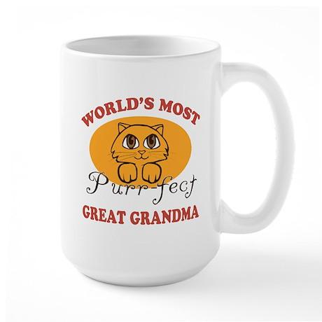 One Purrfect Great Grandma Large Mug