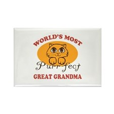 One Purrfect Great Grandma Rectangle Magnet