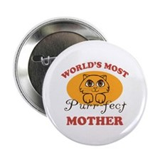 "One Purrfect Mother 2.25"" Button (100 pack)"