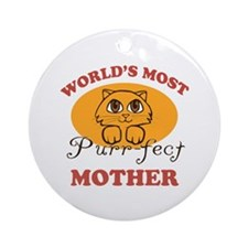 One Purrfect Mother Ornament (Round)