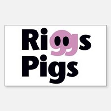 Riggs Pigs - Rectangle Decal