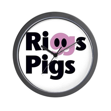 Riggs Pigs - Wall Clock