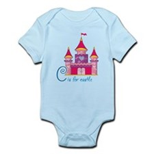 Pink Princess Castle Infant Bodysuit