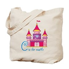Pink Princess Castle Tote Bag