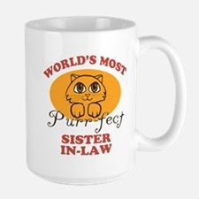 One Purrfect Sister-In-Law Large Mug