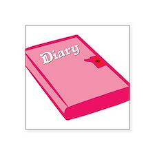 """Princess Diary Square Sticker 3"""" x 3"""""""