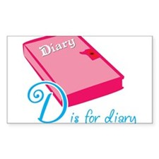 D is for Diary Decal