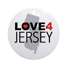 Love 4 Jersey Ornament (Round)