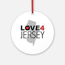 Love 4 Jersey Ornament (Round)