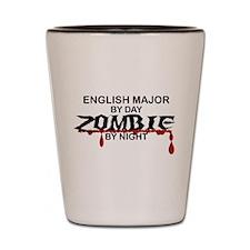 English Major Zombie Shot Glass