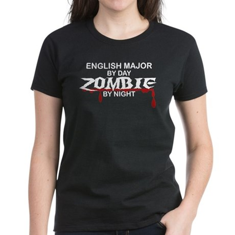 English Major Zombie Women's Dark T-Shirt