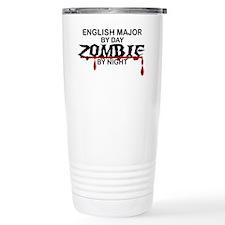 English Major Zombie Travel Mug