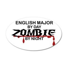 English Major Zombie Wall Decal