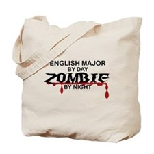 English Major Zombie Tote Bag