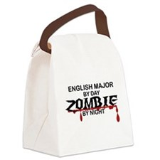 English Major Zombie Canvas Lunch Bag