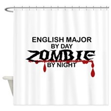 English Major Zombie Shower Curtain
