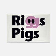 Riggs Pigs - Rectangle Magnet