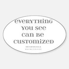 Customize Sticker (Oval)