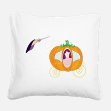 Princess Carriage Square Canvas Pillow