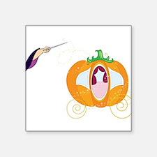 """Princess Carriage Square Sticker 3"""" x 3"""""""