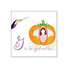 "Fairy Godmother Square Sticker 3"" x 3"""