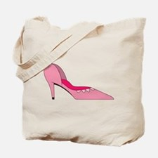 Pink Shoe Tote Bag