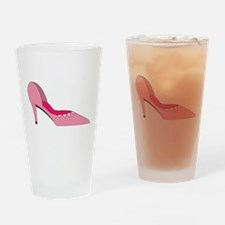 Pink Shoe Drinking Glass