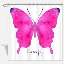 Dazzled Butterfly Shower Curtain