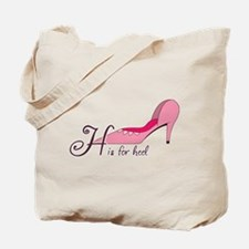 H is for Heel Tote Bag