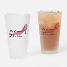 H is for Heel Drinking Glass