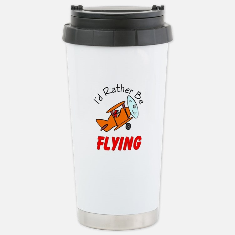 Cute Bi plane Travel Mug