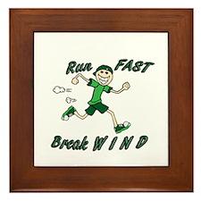 Run Fast Framed Tile