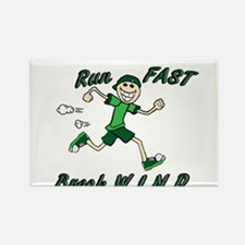 Run Fast Rectangle Magnet