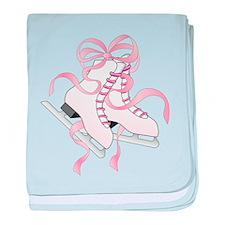 Pink Skates baby blanket