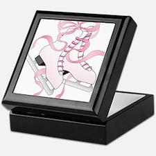Pink Skates Keepsake Box
