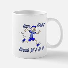 run fast - break wind - blue Mug