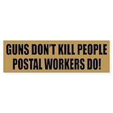 Postal Workers Bumper Car Sticker