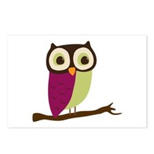 Retro Chic Owl Postcards (Package of 8)