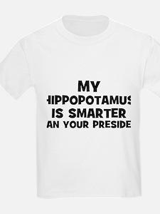 My Hippopotamus Is Smarter Th Kids T-Shirt