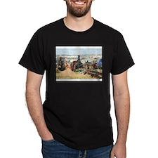 Saw cutting watercolour T-Shirt