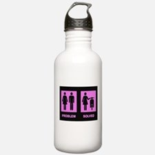 Unique Scooter girl Water Bottle