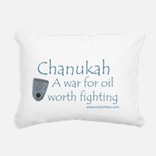 Chanukah Oil Rectangular Canvas Pillow