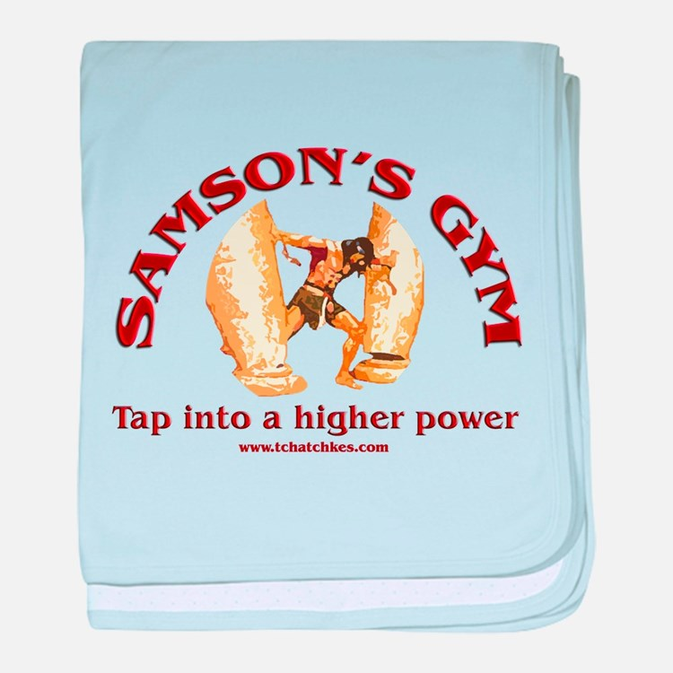 Samson's Gym Higher Power baby blanket