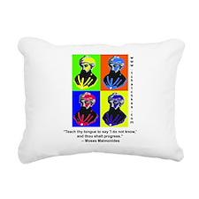 rambamwarhol2.png Rectangular Canvas Pillow