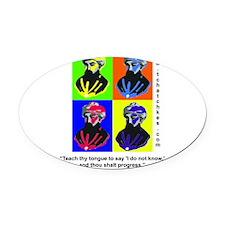 rambamwarhol2.png Oval Car Magnet